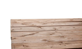 Dark brown paint coated wooden boards Stock Photography