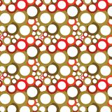 Dark brown and red circles on a white background. (seamless texture). Random size and kind of circles Stock Illustration