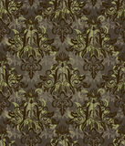 Dark brown retro pattern Royalty Free Stock Images
