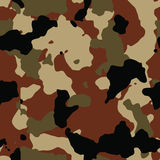 Dark brown seamless camo. Pattern Stock Image