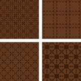 Dark brown seamless pattern background set. Dark brown seamless abstract pattern background set Stock Photos