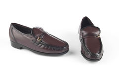Dark brown shoes Royalty Free Stock Images
