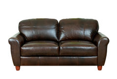 Dark brown sofa Royalty Free Stock Photography