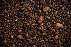Dark brown stone Texture, Gravel Royalty Free Stock Photography