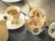 Dark brown sugar Stock Image