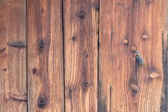 Dark brown textural boards. Old fence.  Stock Images