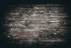 Dark Brown Vintage Wood Planks Background Stock Photography