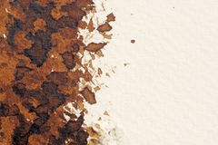 Brown watercolor textures royalty free stock image