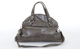 Dark brown Women leather bag Royalty Free Stock Photo