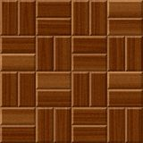 Dark brown wood floor tiles seamless pattern texture Royalty Free Stock Images