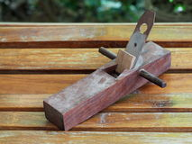 Dark brown wood plane, planer Stock Photography