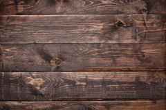 Dark brown wood plank background Stock Images