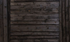 Dark brown wood texture. background old panels with brown Large wooden shield, billboard Royalty Free Stock Photography