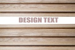 Decoratively decorated wooden wall with an inscription. Dark brown wood texture with natural striped pattern for background, wooden surface for add text or Royalty Free Stock Photography