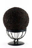 Dark brown wooden ball Royalty Free Stock Photo