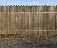 Dark brown wooden fence Royalty Free Stock Photo