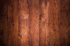 Dark brown wooden floor Stock Photography