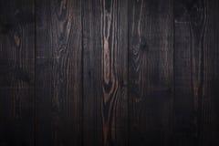 Dark brown wooden plank background. Old dark brown wooden plank background. Vintage and retro style Stock Photo