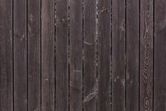 Dark brown wooden planks texture. Stock Photo