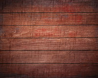 Dark brown wooden planks, tabletop, floor surface. Stock Photo