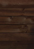 Dark brown wooden wall Royalty Free Stock Image