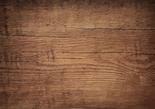 Dark brown wooden wall, table, floor surface. Aged board. Vector wood texture. Royalty Free Stock Photo
