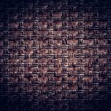 Dark Brown woven leather background. Pattern Royalty Free Stock Photo
