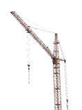 Dark building crane isolate on white Stock Images