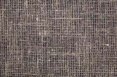 Dark burlap texture Royalty Free Stock Photography