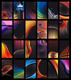 Dark Business Card Collection. Abstract Business Card Collection - Dark Version royalty free illustration