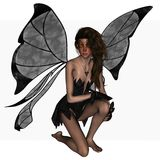 Dark Butterfly fairy Royalty Free Stock Images