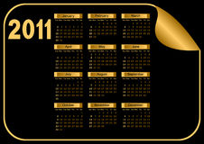 Dark Calendar. Royalty Free Stock Photography