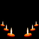 Dark Candle background Royalty Free Stock Photography