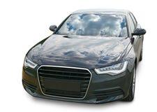 Dark car on  white background Stock Photos