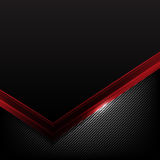 Dark carbon fiber and red overlap element abstract background vector illustration 006 stock illustration