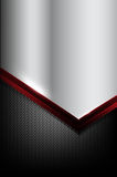 Dark carbon fiber and red overlap element abstract background ve. Ctor illustration eps10 Royalty Free Stock Images