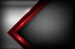 Dark carbon fiber and red overlap element abstract background ve. Ctor illustration eps10 Royalty Free Stock Photos