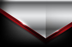 Dark carbon fiber and red overlap element abstract background. Vector illustration eps10 Stock Images