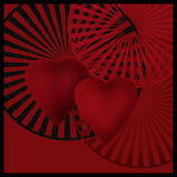 Dark card with hearts art image picture background Stock Photography