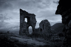 Dark Horror Castle Stock Photos