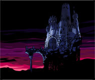 Dark Castle. The Dark castle at the sunset Stock Photography