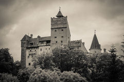 Dark castle of Bran in Romania Royalty Free Stock Photography