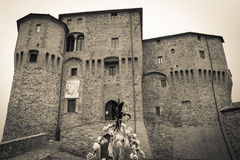 Dark castle. Of Sant'Agata Feltria stock photos