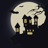 Dark castle. Vector illustration.Halloween Royalty Free Stock Images
