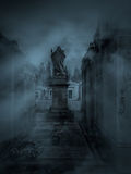 Dark cemetery Royalty Free Stock Photo