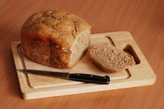 Dark cereal home made bread Stock Photos
