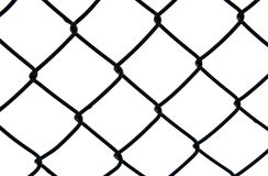 Dark chain link fence Royalty Free Stock Photo