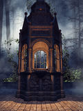Dark chapel with green ivy Royalty Free Stock Photo