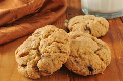 Dark cherry chocolate chip cookies royalty free stock images