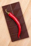 Dark chili chocolate Royalty Free Stock Photography